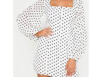 Pretty little thing polka dot bodycon dress size 12