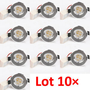 10pcs mini 3 1w warm white led recessed ceiling spot light. Black Bedroom Furniture Sets. Home Design Ideas