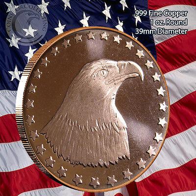 """""""American Eagle"""" Copper 1oz .999 Fine Copper Beautiful Round"""