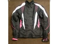 Women's size 10 biker jacket pink/ black