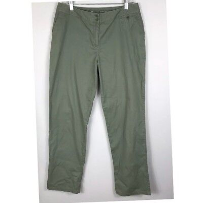"""J Jill Women's Solid Olive Green Brushed Cotton Pants, Size 10 Inseam 31"""" Used for sale  Acworth"""