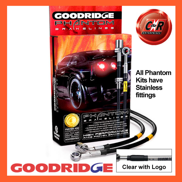 Lexus IS250/IS220d 2007 Goodridge Stainless Cl Text Brake Hoses SLX0250-4C-CLG