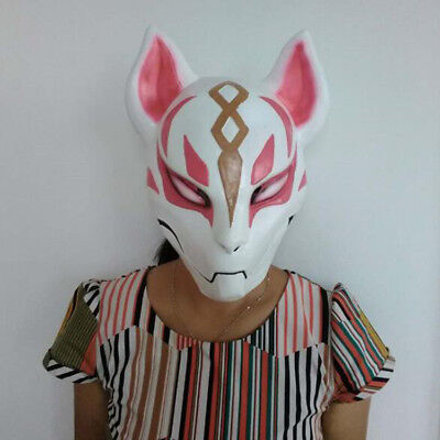 Fortnite Fox Mask  Halloween Costume for kid girl game latex prop Cosplay party - Fox Costumes For Halloween
