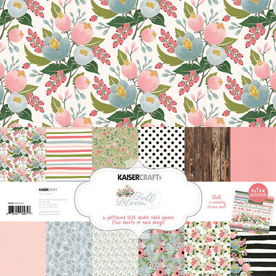 KaiserCraft Full Bloom Collection 12x12 Pack Floral Celebrations (Full Bloom Collection)