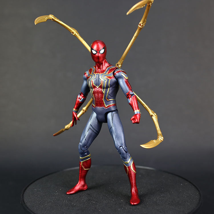 7/'/' Iron Spiderman Action Figure Marvel Avengers 3 Infinity War Spider-Man Toy