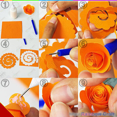 Spiral Quilling Paper - perfect for making flowers 11 Colors (U select) 5 types