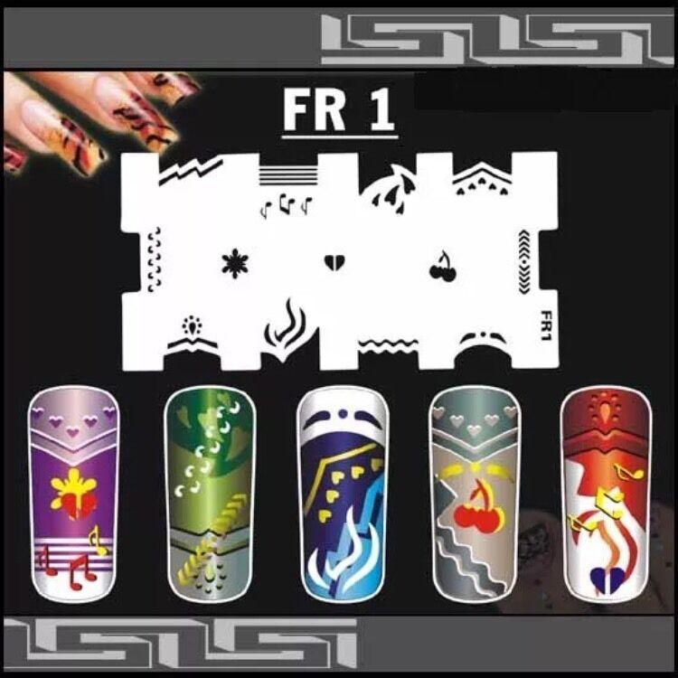 Nail Art Airbrush Stencils (FR 01-10)