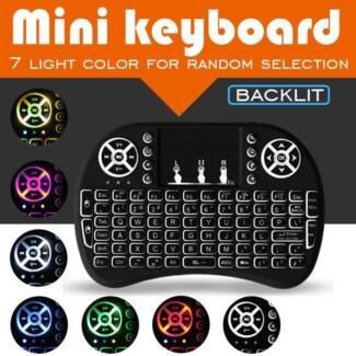 Wireless Keyboard Rii Mini i8 Air Mouse Backlit changable 7 color