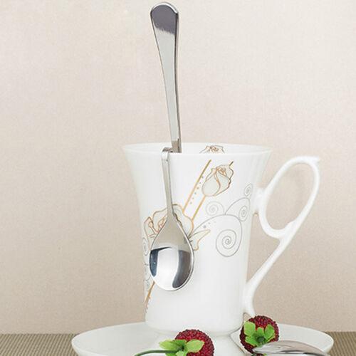 Nuovo Carina Unico Curvo Tè Caffè Cucchiaio Bere Condimento Cucchiaino