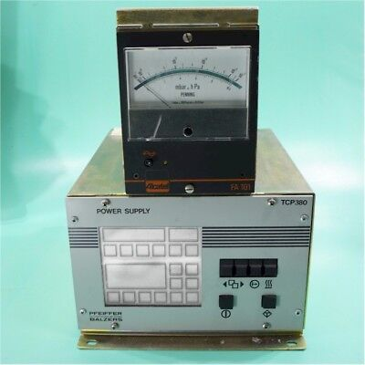 Pfeiffer Balzers Tcp380 Turbomolecular Pump Power Supply Walcatel Fa101 Gauge