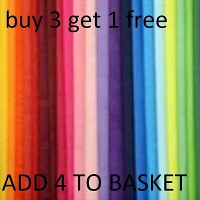 10 SHEETS ACID FREE TISSUE PAPER VARIOUS COLOURS 50x75cm HIGH QUALITY 53 COLOURS