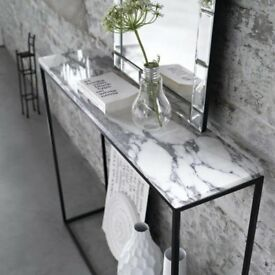 Mahaut marble console table , marble white