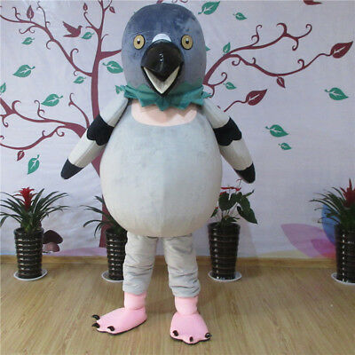 New Big Bird Pigeon Mascot Costume Halloween Suit Fancy Dress Adult Size Cosplay](Big Bird Fancy Dress)