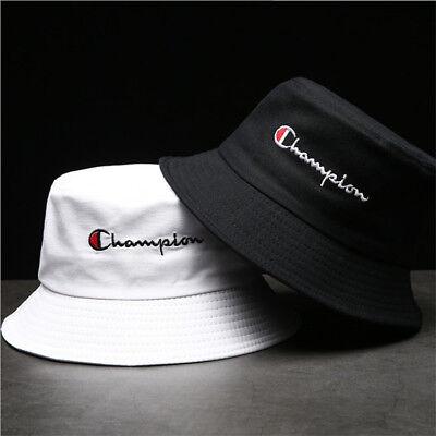 White Bucket Hat (Champion Bucket Cap Fisherman Hat Sun Hat Black And White Lovers Basin Hat)