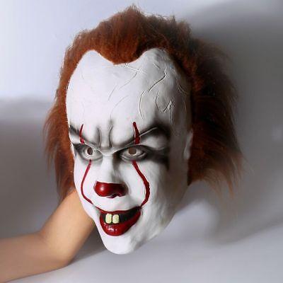 Stephen King's It clown Film Movie Halloween Mask Cosplay Maske Kostüm Costume