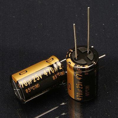 10pcs Japan Nichicon 470uf 25v Muse Kz Audio Electrolytic Capacitor