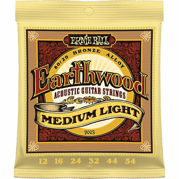 Ernie Ball Acoustic Guitar Strings Earthwood Phosphor Bronze 80/20 Medium Light