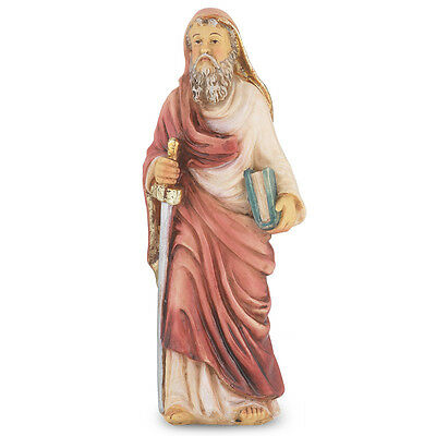 Statue St Paul 4 inch Painted Resin Figurine Patron Saint Catholic Card Box