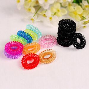 10pcs-Women-Telephone-Line-Hair-Elastic-Ring-Bands-Ties-rope-Device-Bracelet