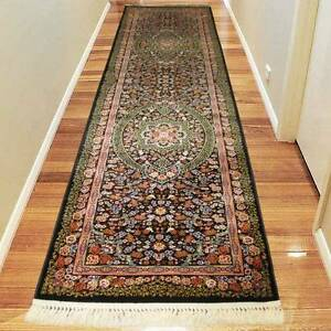 TRADITIONAL RUNNER-HALLWAY-CARPET-RUG80CMX300CM-COLOR-BLACK(0708) Bass Hill Bankstown Area Preview