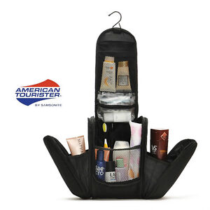 Black-Deluxe-Large-Hanging-Hook-Travel-Toiletry-Kit-New-Organizer-Shaving-Bag