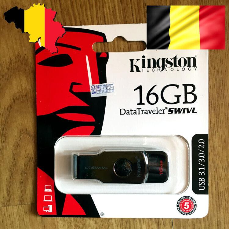 Kingston Data Traveler SWIVL USB 3.0 Memory Stick Flash Pen Thumb Drive Disk 16