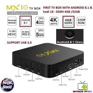 1ST TV BOX with Latest Android 8.1 Oreo M1X10 RK3328 DDR4 4GB 32 Doveton Casey Area Preview