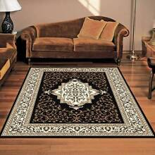 BLACK TRADITIONAL DESIGN-CARPET-FLOOR RUG-(10886)120X170CM-RUNNER Bass Hill Bankstown Area Preview
