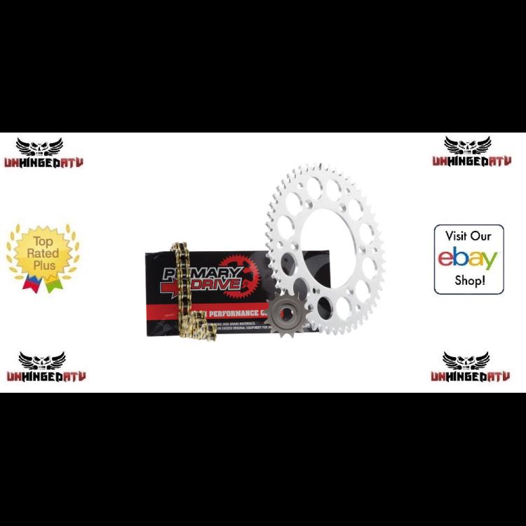 YAMAHA BANSHEE 350 SPROCKET FRONT /& REAR Kit /& Gold X-Ring Chain