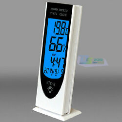 Digital LCD Multi Function Temperature &Humidity Meter Clock Alarm Night Light