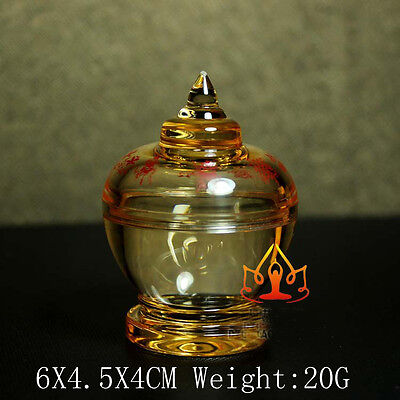 Buddha Tibet Tibetan  Buddhist Mikky  Eight  Symbols Crystal Stupa Tower
