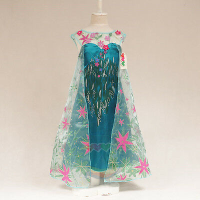 Princess Frozen Fever Elsa Costume - 6/6X°• FREE Shipping from - Elsa From Frozen Costume