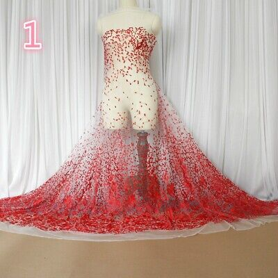 Diy Fairy Dress (Lace Mesh Embroidery Sheer Fabric Voile Tulle Wedding Dress Cloth DIY Fairy)