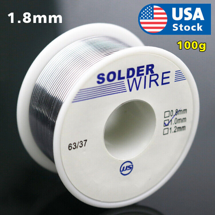 63/37 Tin Lead Rosin Core Flux Solder Wire for Electrical Solderding 1.8mm 100g Business & Industrial
