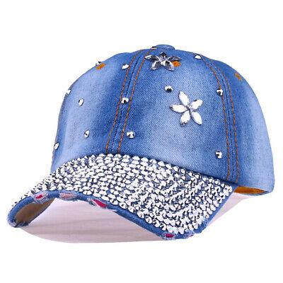 Applique Cap (Women Men Washed Cap Style cowboy applique Baseball Cap With Star drill Hat)