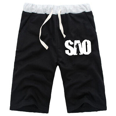 Anime Sword Art Online SAO Sweat Board Shorts Sports Casual Cotton Short Pants ()
