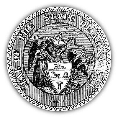 Arkansas USA State Seal Stamp Car Bumper Sticker Decal 5'' x (Arkansas Seal)