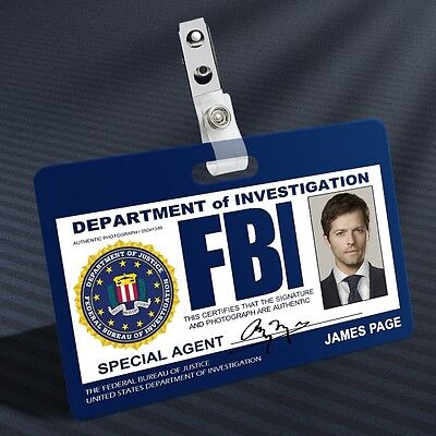 Supernatural - FBI Castiel Prop ID Badge
