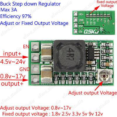 Dc-dc Buck Step Down Adjustable Converter 3.3v 5v 9v 12v 3a Power Supply Module