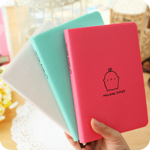 """Molang Rabbit 2020"" 1pc Cute Monthly Weekly Planner Agenda Study Notebook Diary"