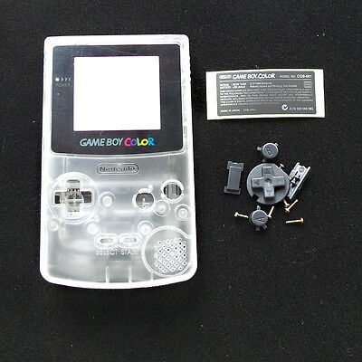 Clear White Crystal Full Housing Shell for Nintendo Game boy Color GBC OEM