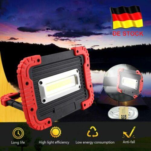 30W COB LED Arbeitsleuchte Akku Werkstattlampe Baustrahler Camping Flutlicht DE