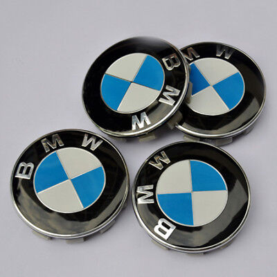 BMW ALLOY WHEEL CENTRE HUB CAPS E30,E36,E46,E92 1,3,5,6,7,X5 X6 M3 M5 M6 Z4 68mm