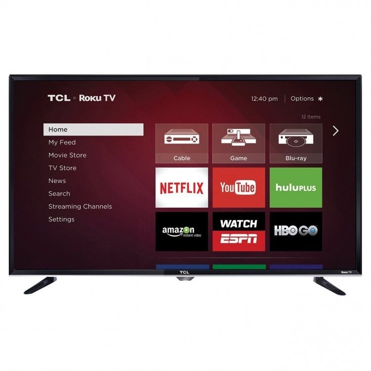 Roku 40in LED Smart Television 1080p LED-LCD TV w 3 HDMI Ports and PC Streaming