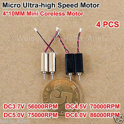 4pcs 410mm Dc3.7v-6v 86000rpm Ultrahigh High Speed Micro Coreless Tiny Dc Motor