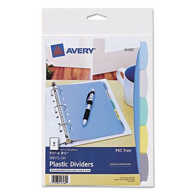 Avery Write Erase Big Tab Plastic Dividers 5-tab 5 12 X 8.5