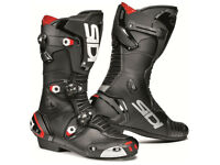 Brand NEW Sidi Mag 1 Motorcycle racing boots in Black - SIZE UK 11, EU 46