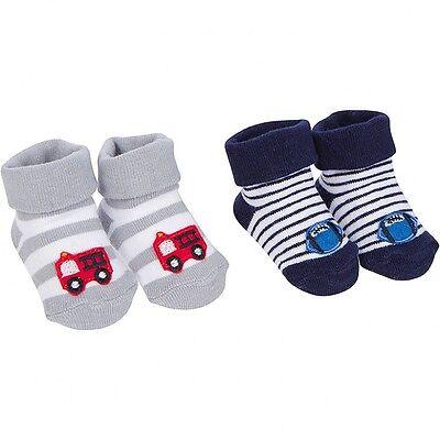 - Gerber Baby Boys 2 Pack Jersey Bootie Socks NEW Size 0-6 Months Firetruck Sports