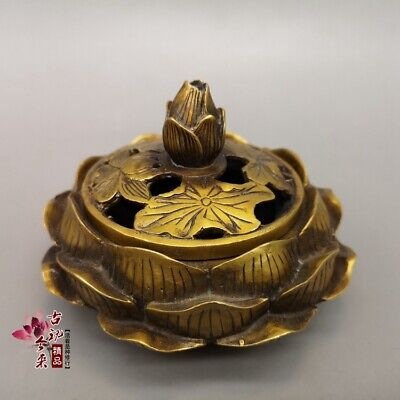 Chinese antiques Fengshui bronze ware Pure copper incense burner accessories