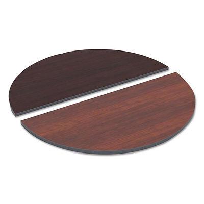 Alera Reversible Laminate Table Top Half Round 48w X 24d Medium Cherry